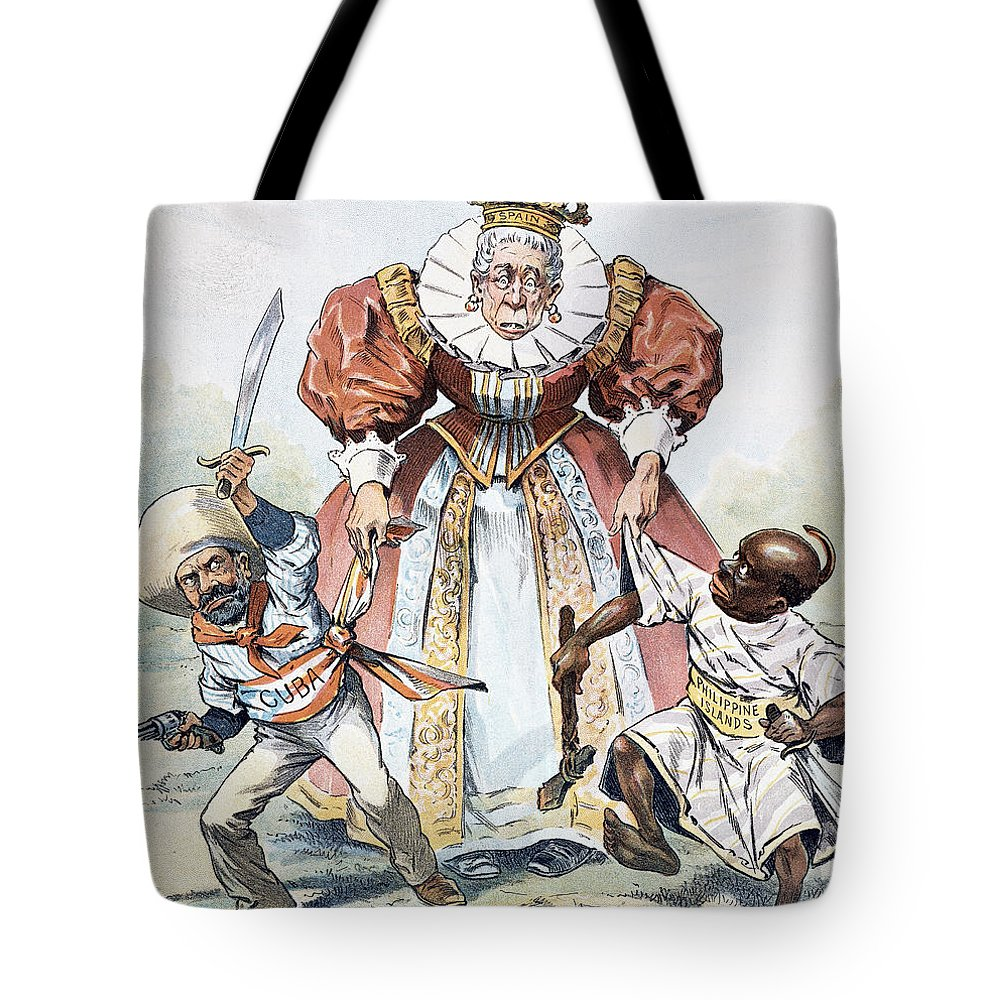 1896 Tote Bag featuring the painting Imperialism Cartoon, 1896 by Granger