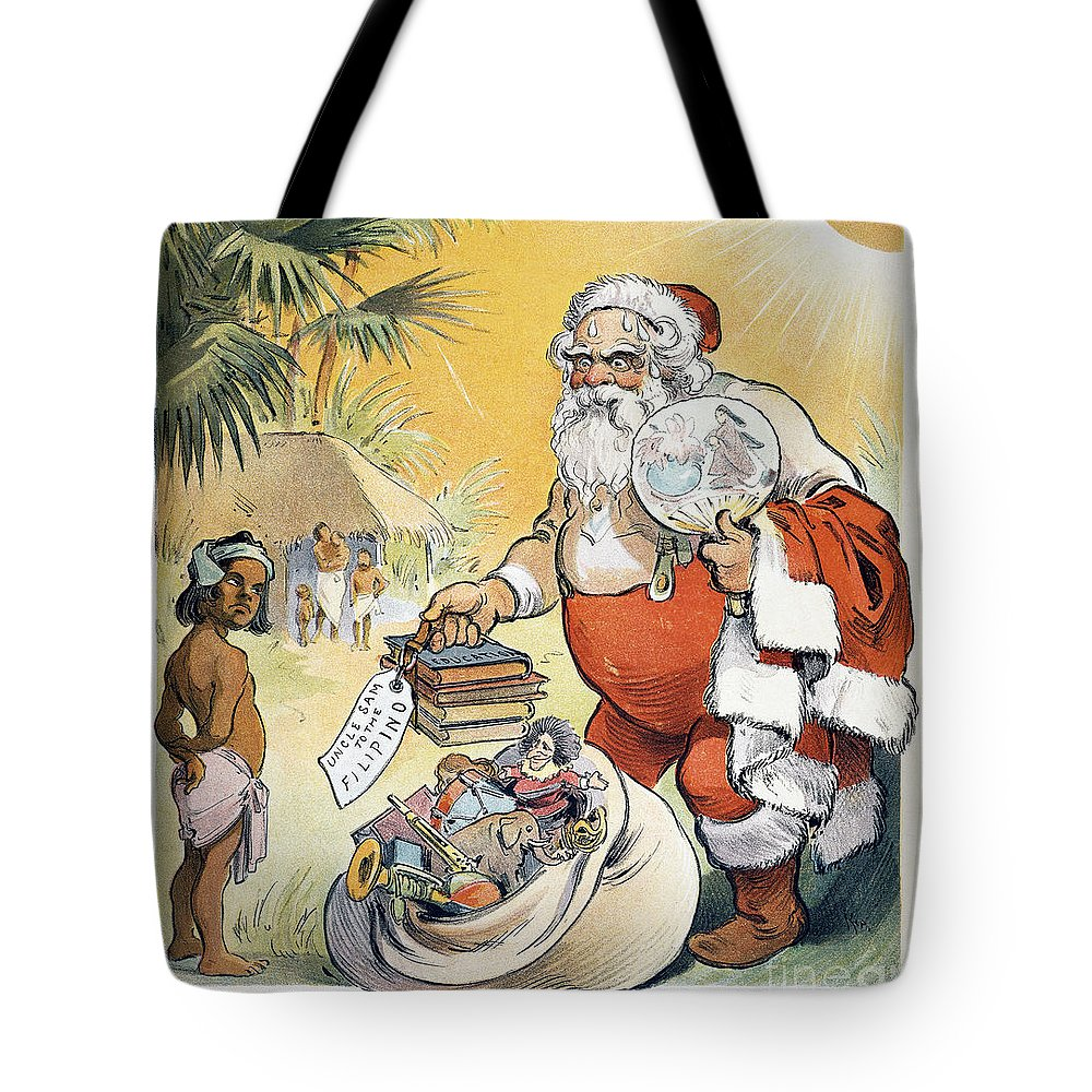 1902 Tote Bag featuring the painting Philippine Cartoon, 1902 by Granger