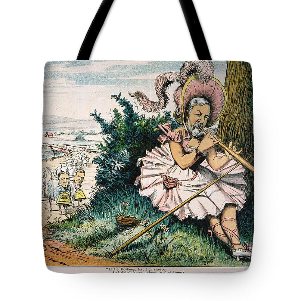 1884 Tote Bag featuring the painting James Blaine Cartoon, 1884 by Granger