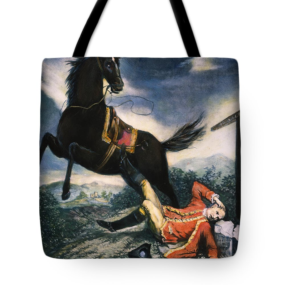 1774 Tote Bag featuring the painting Cartoon: Thomas Gage, 1774 by Granger