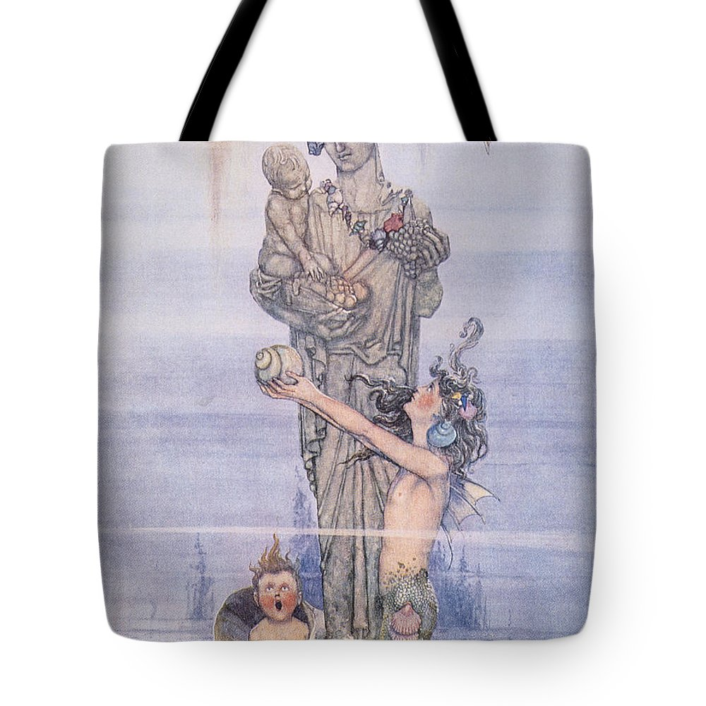 1913 Tote Bag featuring the painting Andersen: Little Mermaid by Granger
