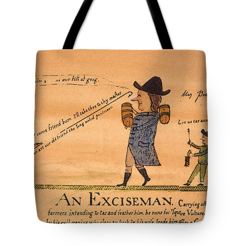 1794 Tote Bag featuring the painting Cartoon: Whiskey Tax, 1794 by Granger
