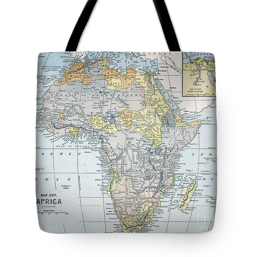 19th Century Tote Bag featuring the painting Map: Africa, 19th Century by Granger