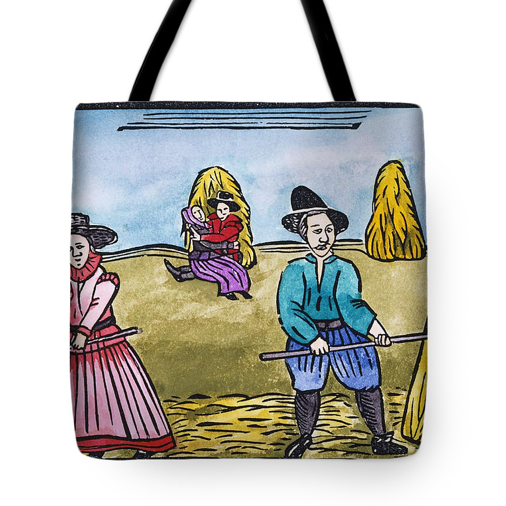 Aod Tote Bag featuring the painting Love Among Haystacks by Granger