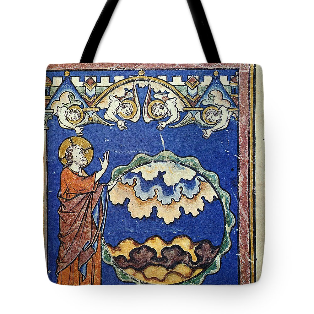 1250s Tote Bag featuring the painting Day Two Of Creation by Granger