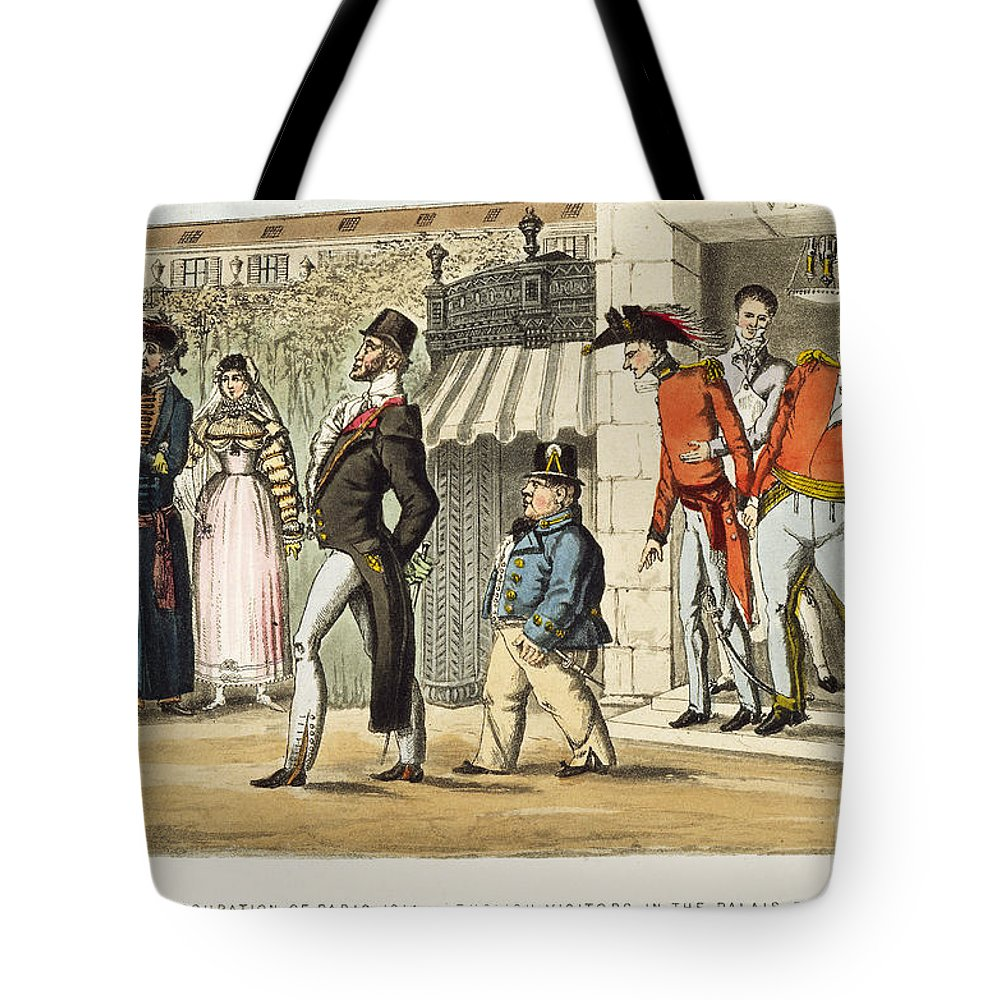 1814 Tote Bag featuring the painting Paris Occupation, 1814 by Granger