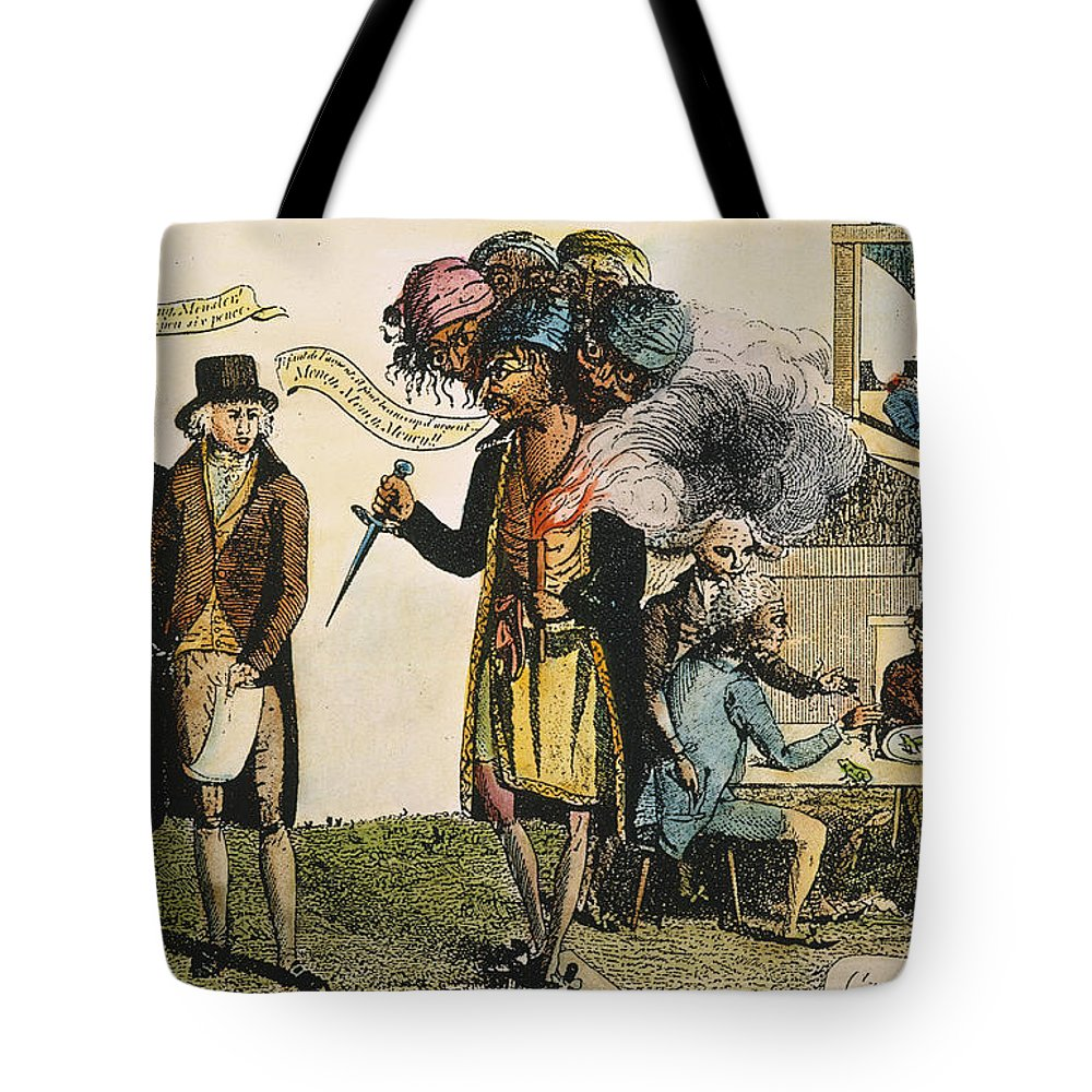 1798 Tote Bag featuring the painting Cartoon: French War, 1798 by Granger