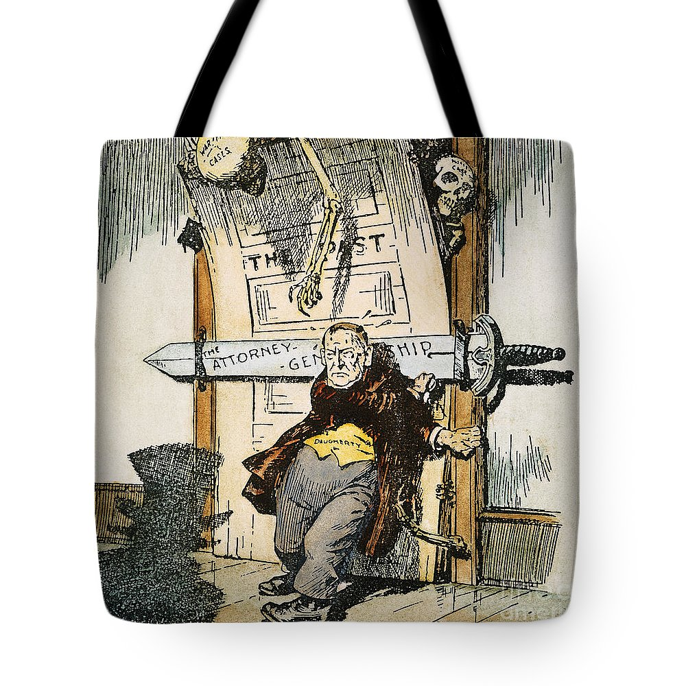 1924 Tote Bag featuring the painting Skeletons Of Malfeasance by Granger