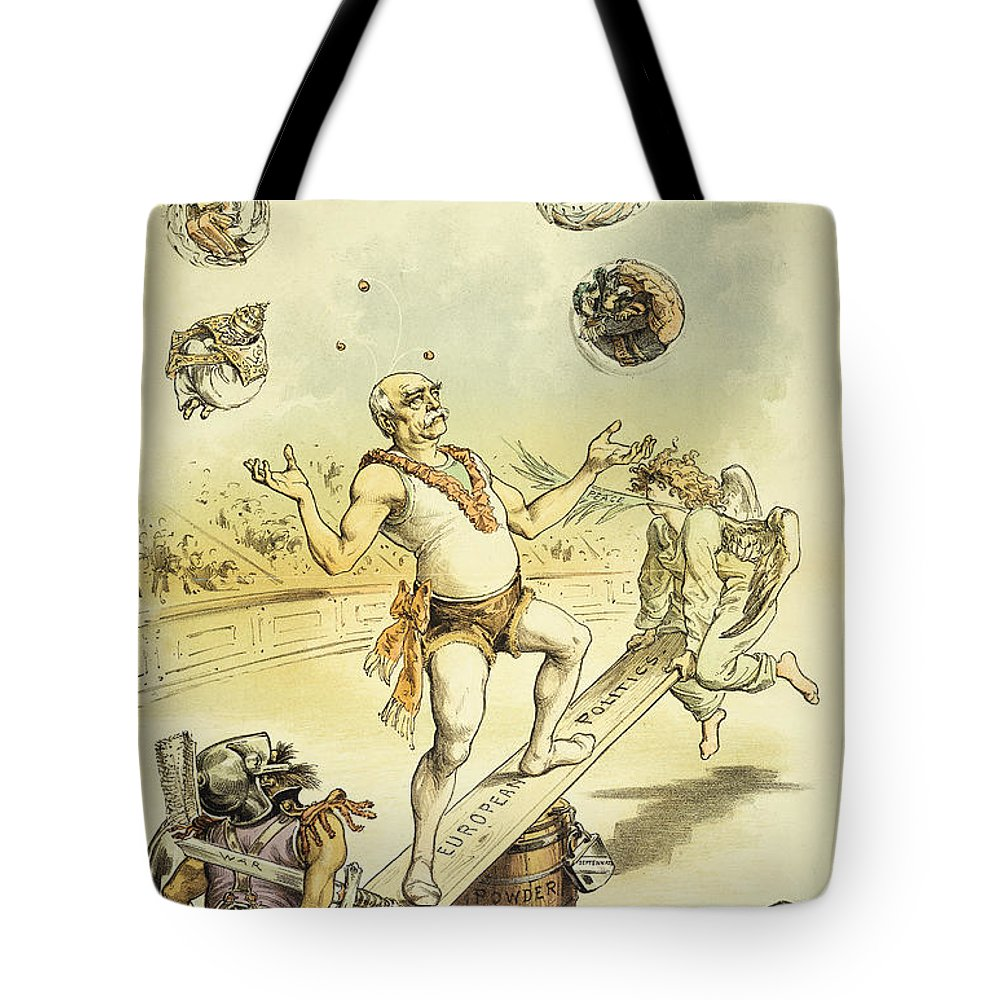 1887 Tote Bag featuring the painting Otto Von Bismarck by Granger