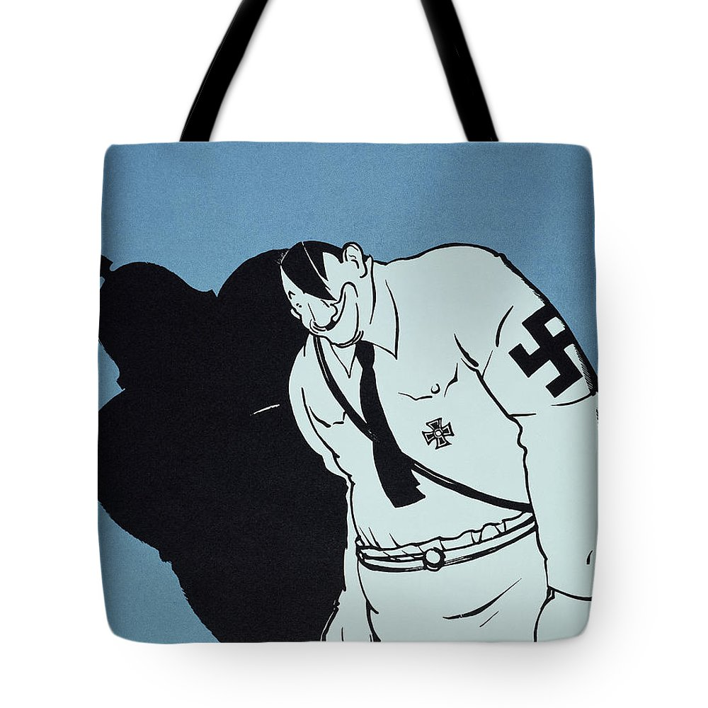 1935 Tote Bag featuring the painting Adolf Hitler Cartoon, 1935 by Granger