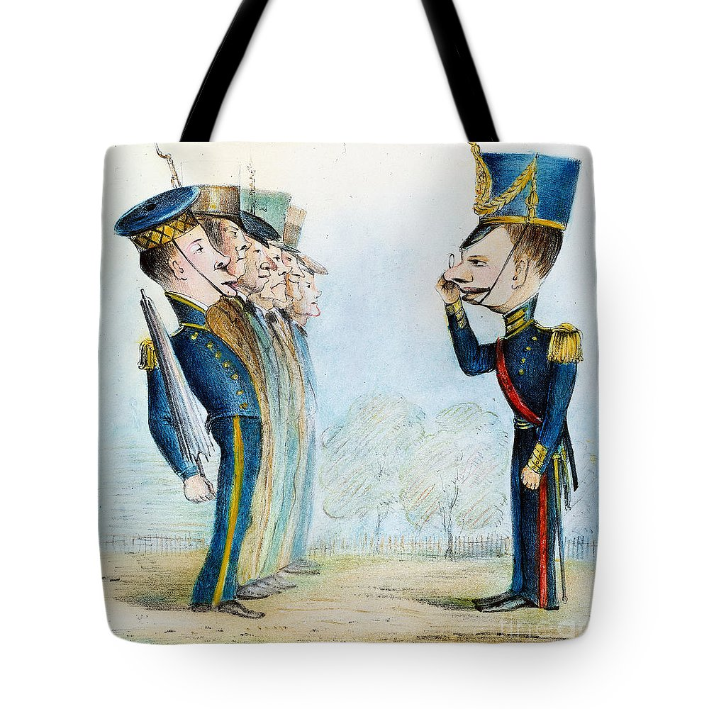 1846 Tote Bag featuring the painting Cartoon: Mexican War, 1846 by Granger