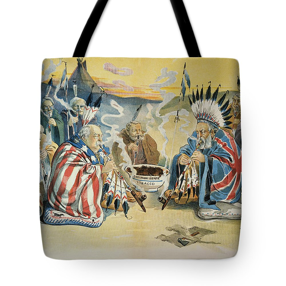 1896 Tote Bag featuring the painting G. Cleveland Cartoon, 1896 by Granger