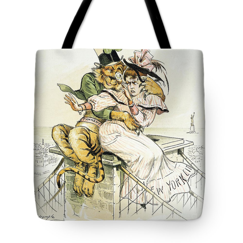 1893 Tote Bag featuring the painting Political Cartoon by Granger
