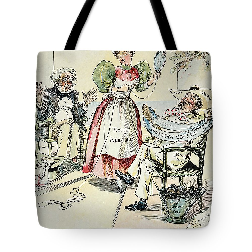 1895 Tote Bag featuring the painting New South Cartoon, 1895 by Granger