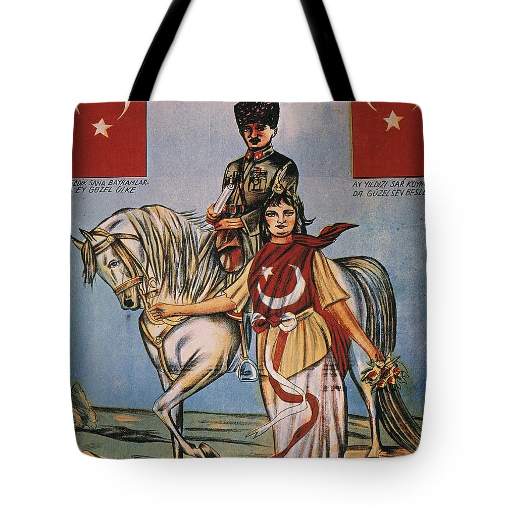 1920s Tote Bag featuring the painting Republic Of Turkey: Poster by Granger