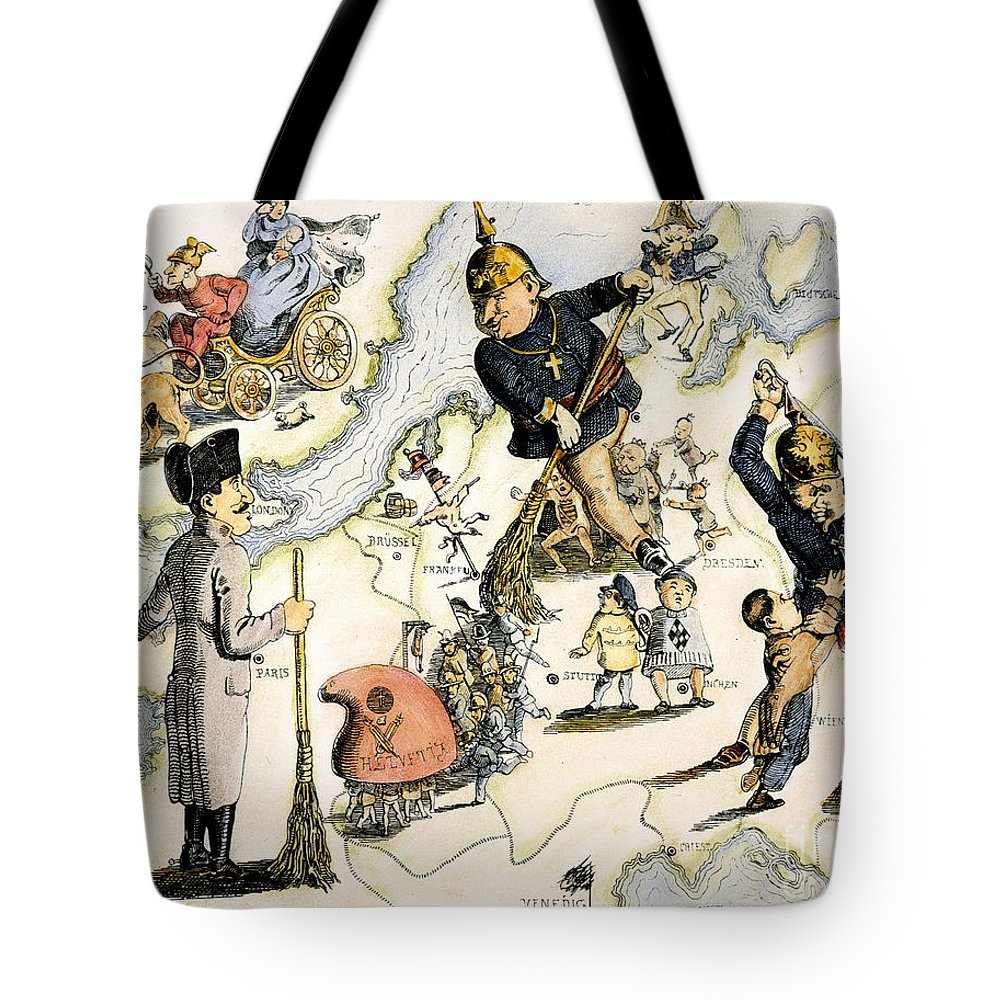 1848 Tote Bag featuring the painting Europe: 1848 Uprisings by Granger