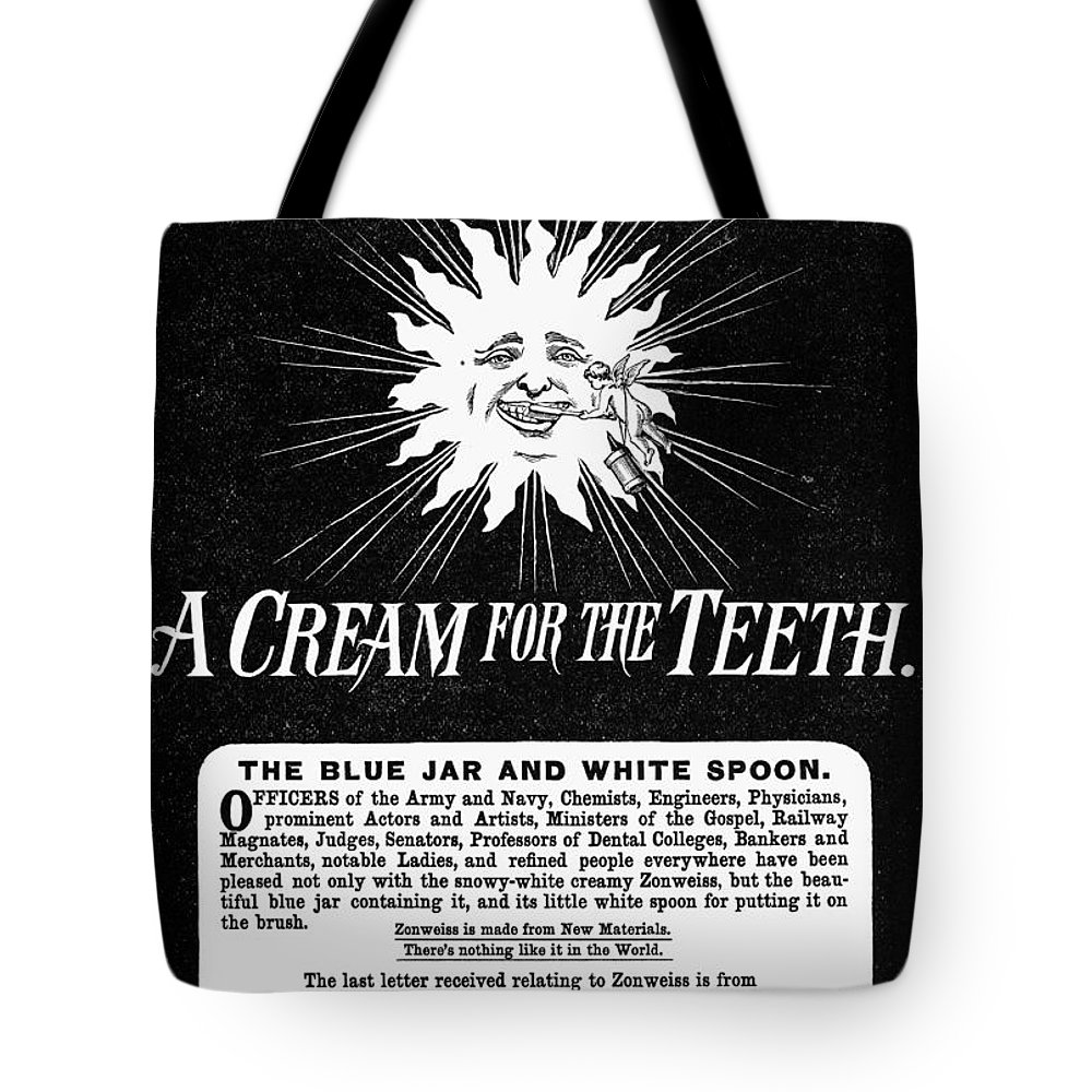 1887 Tote Bag featuring the painting Fonweiss Toothpaste, 1887 by Granger