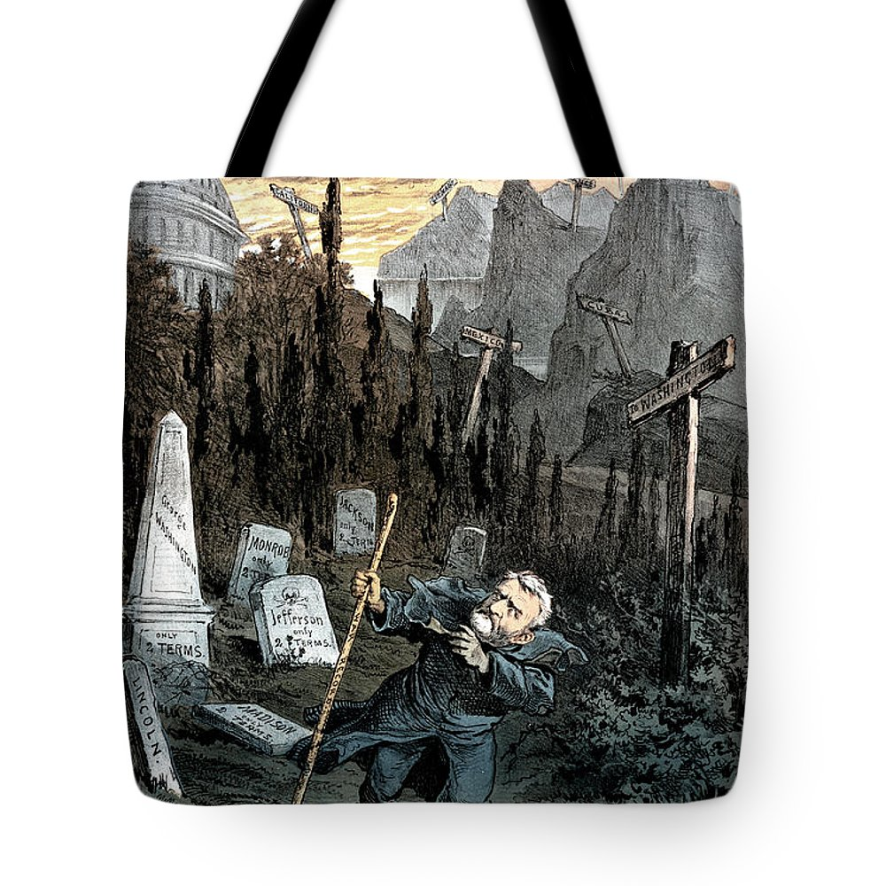 1880 Tote Bag featuring the painting Grant Cartoon, 1880 by Granger
