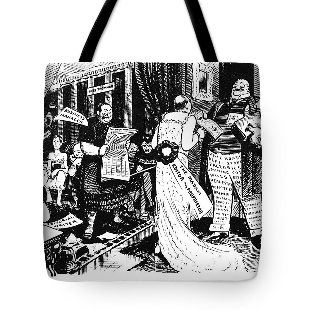1912 Tote Bag featuring the painting Press Cartoon, 1912 by Granger