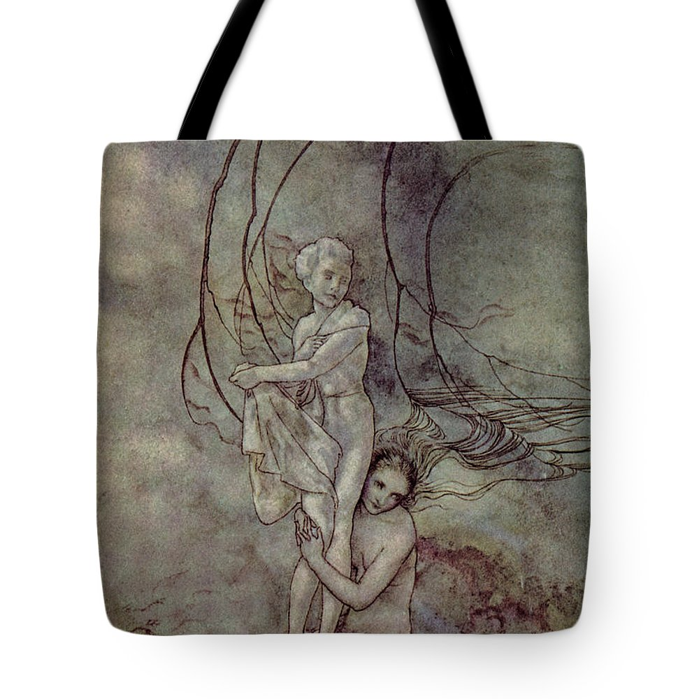 19th Century Tote Bag featuring the painting Andersen: Little Mermaid by Granger