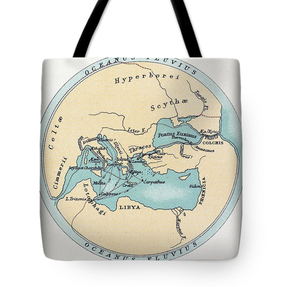 Africa Tote Bag featuring the painting Voyage Of The Argonauts by Granger