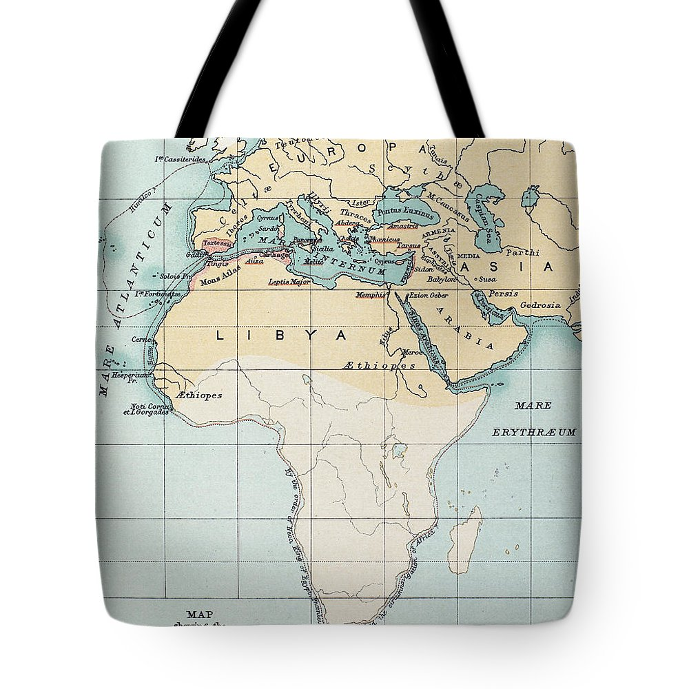 1st Millennium Bc Tote Bag featuring the painting Map: Phoenician Empire by Granger