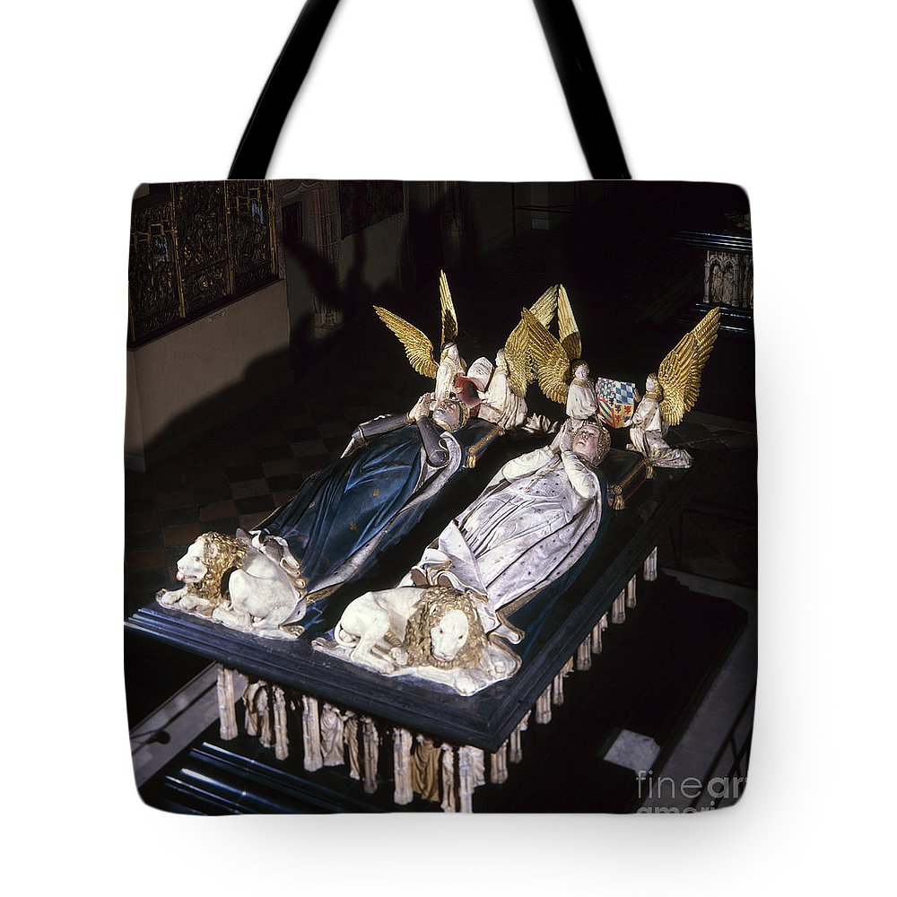 15th Century Tote Bag featuring the painting France: Tomb Of John II by Granger