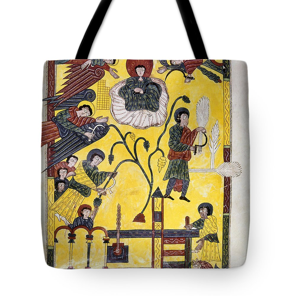 970 Tote Bag featuring the painting Spain: Grape Harvest by Granger