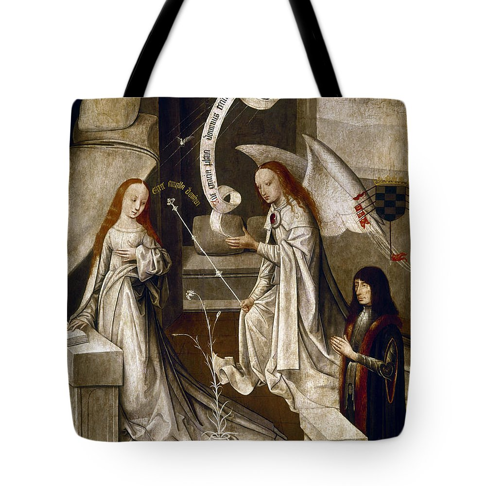 1470 Tote Bag featuring the painting Spain: Annunciation, C1500 by Granger