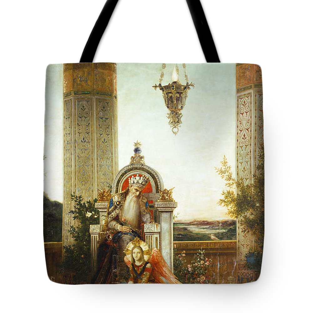 19th Century Tote Bag featuring the painting Moreau: King David by Granger