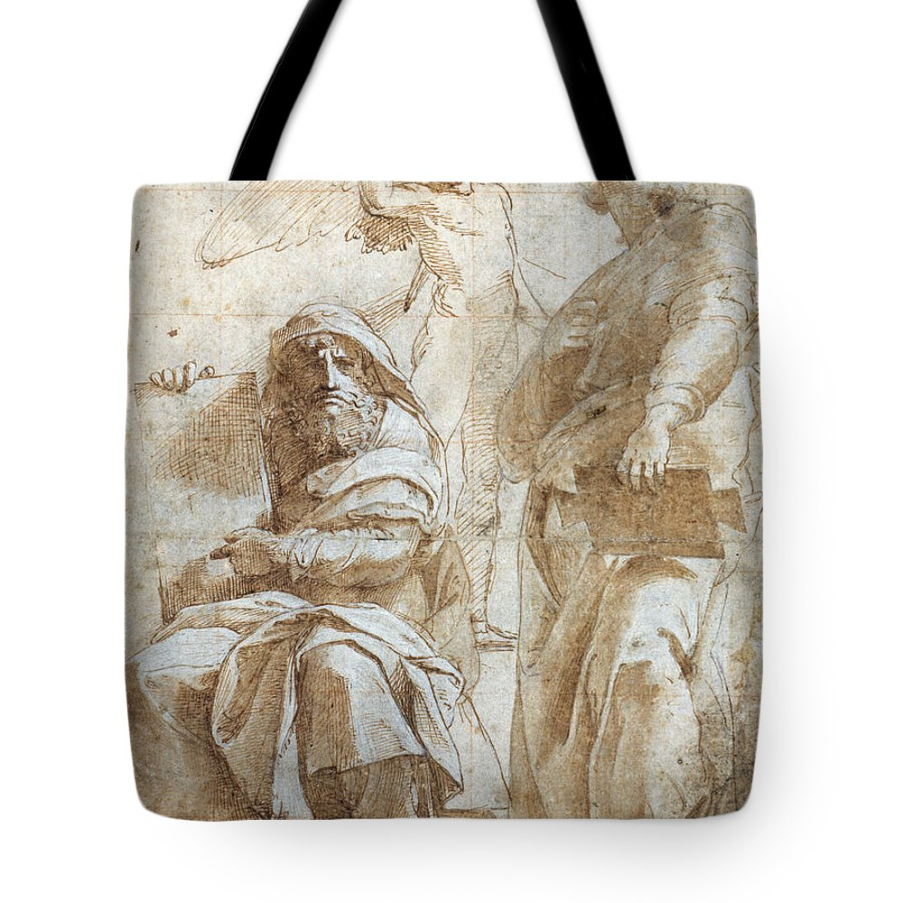 1510 Tote Bag featuring the painting Raphael: Study, C1510 by Granger