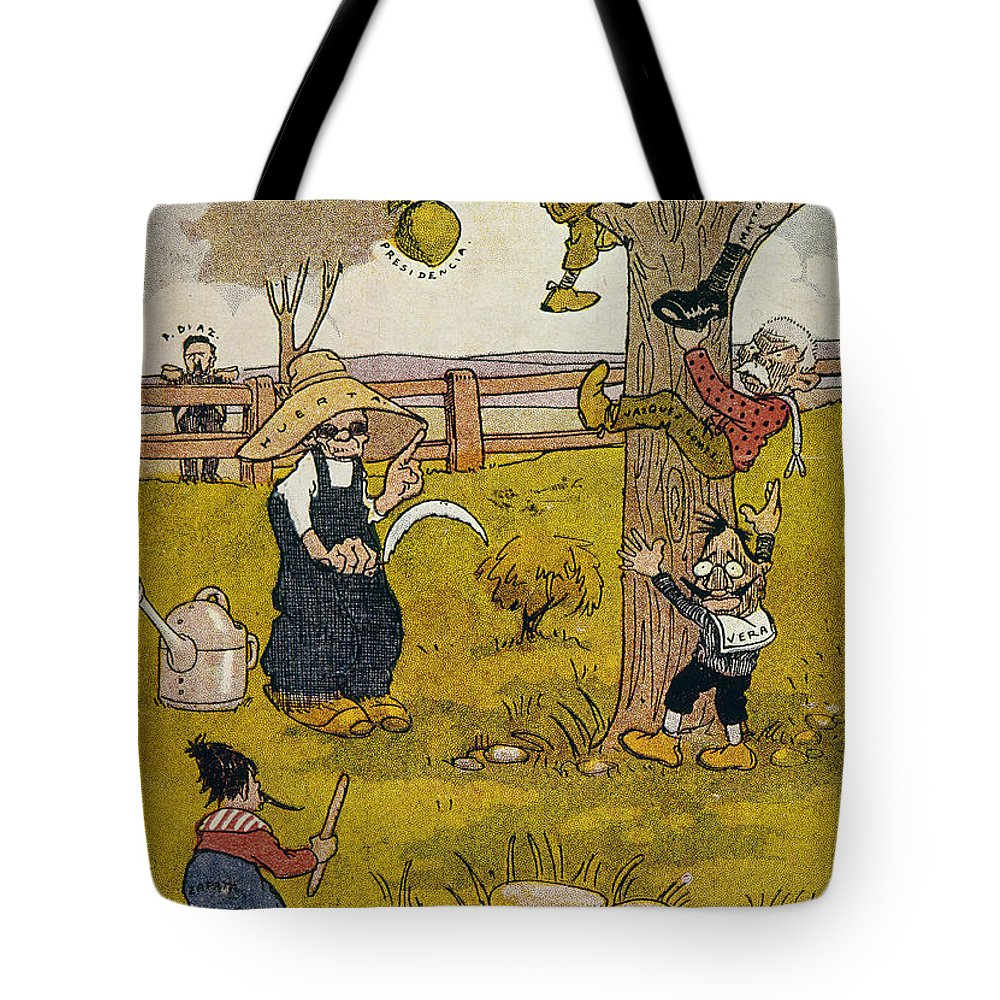 1913 Tote Bag featuring the painting Mexico: Political Cartoon by Granger