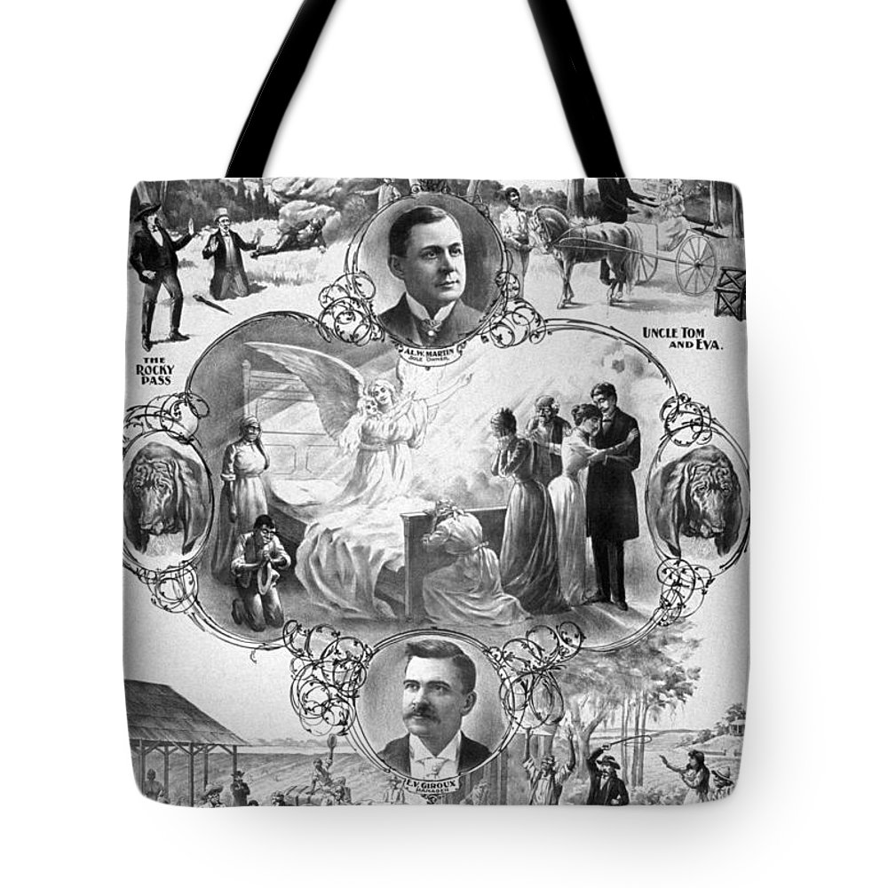 1899 Tote Bag featuring the painting Uncle Tom's Cabin, C1899 by Granger