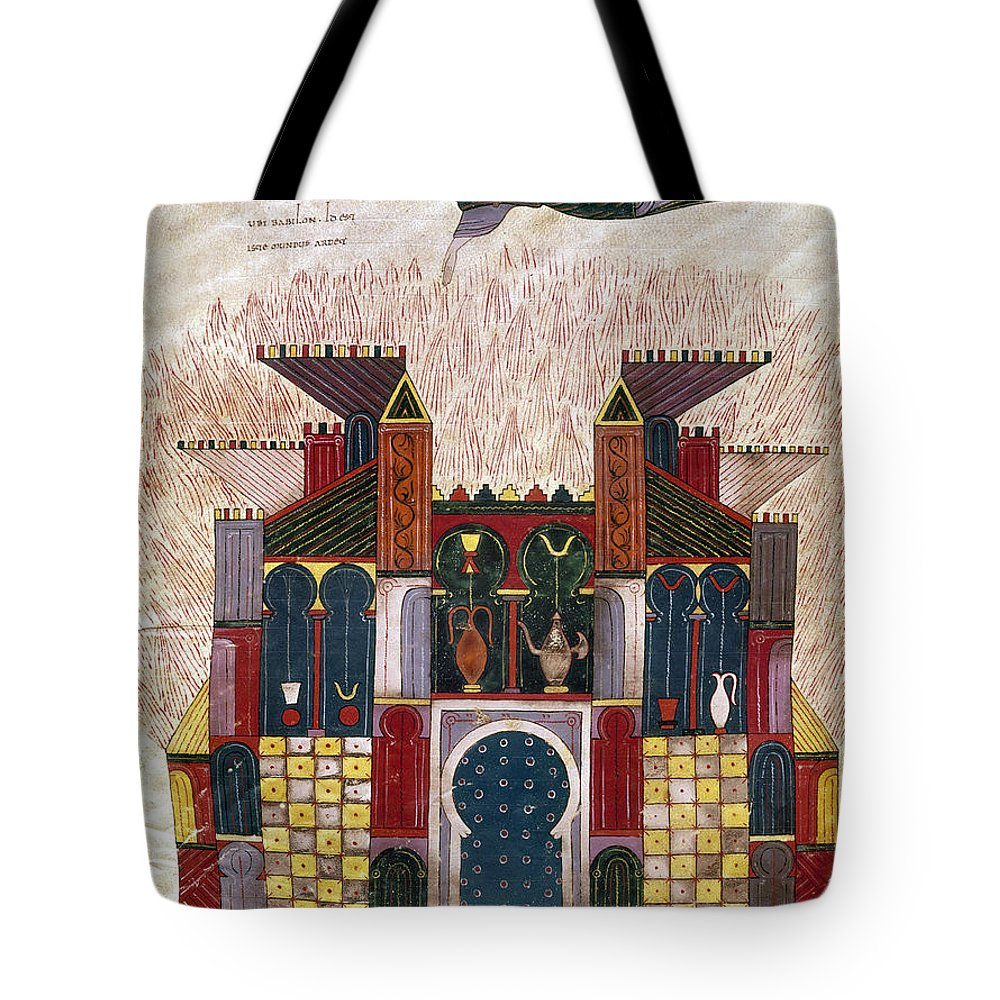 1047 Tote Bag featuring the painting Facundus Beatus, 1047 by Granger