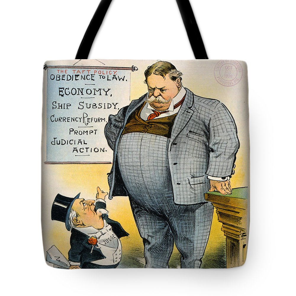 1909 Tote Bag featuring the painting William Howard Taft by Granger