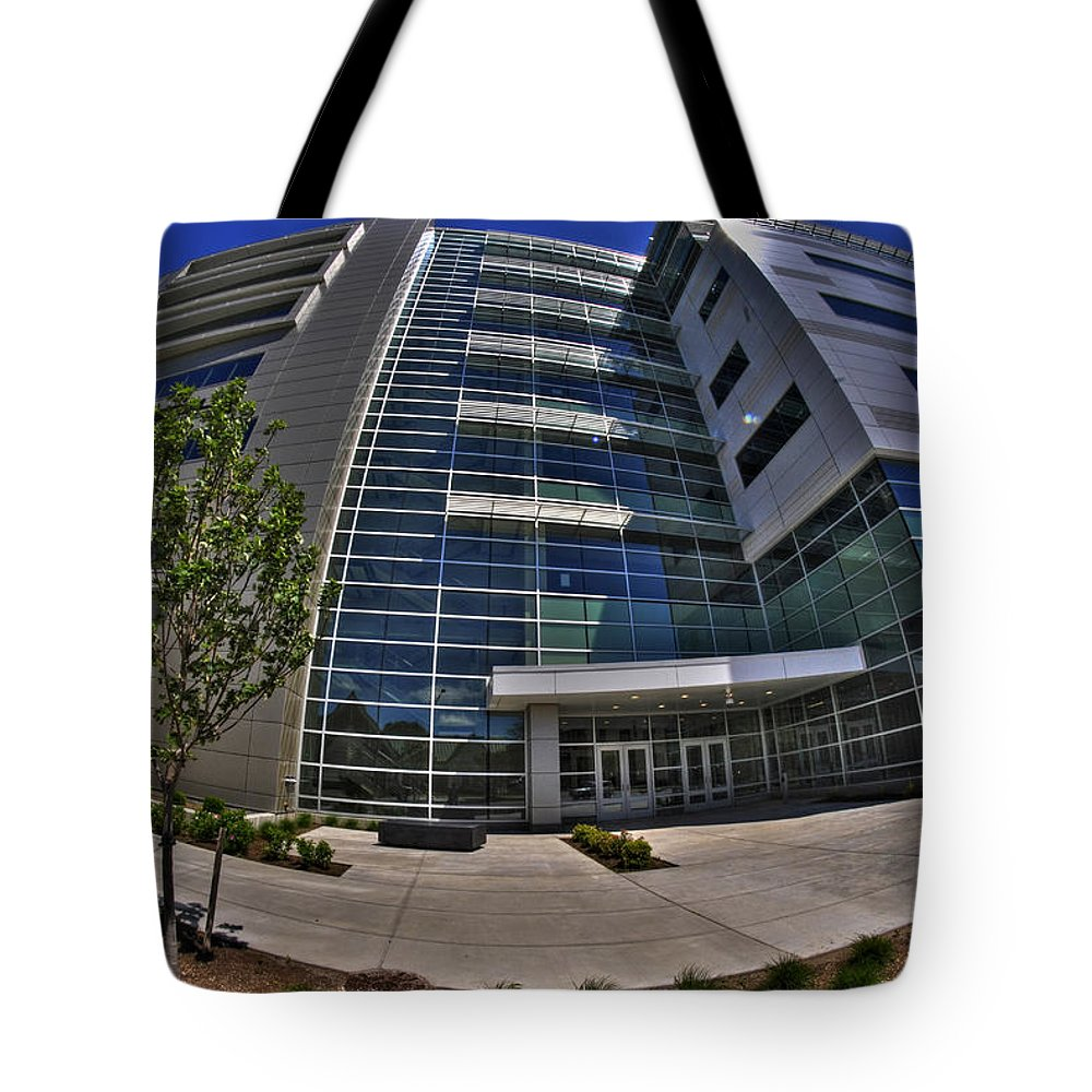 Buffalo Tote Bag featuring the photograph 03 Conventus Medical Building On Main Street by Michael Frank Jr