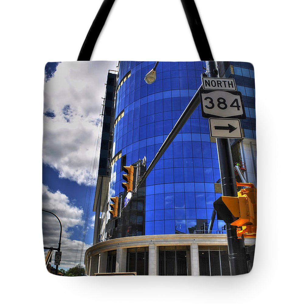 Buffalo Tote Bag featuring the photograph 04 W Chipp And Delaware Construction by Michael Frank Jr