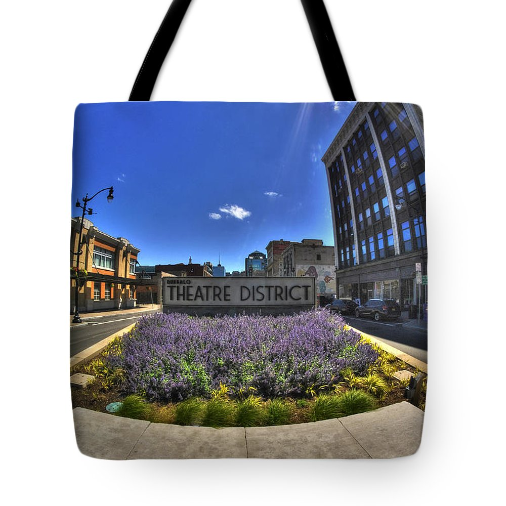 Buffalo Tote Bag featuring the photograph 05 Plaza Of Stars by Michael Frank Jr