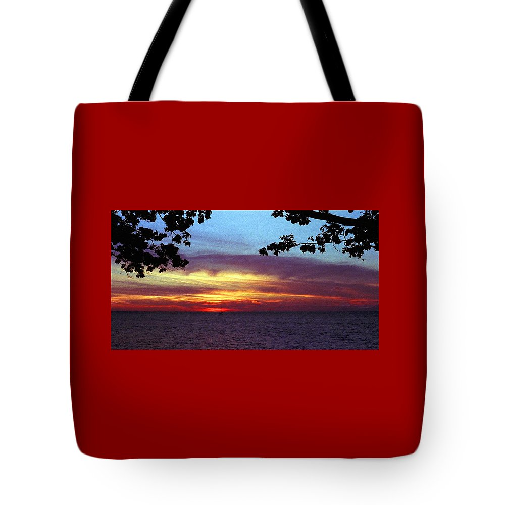 Sunset Tote Bag featuring the photograph 070506-68 by Mike Davis