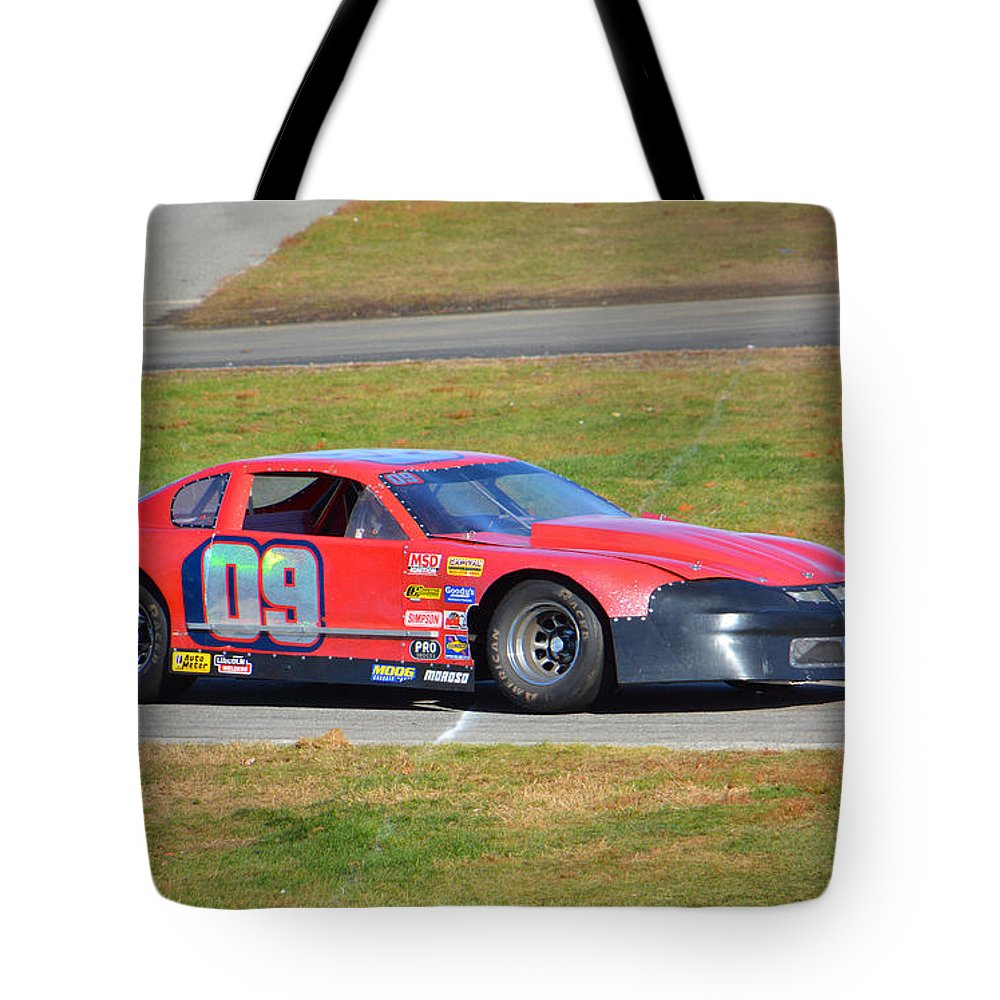 Thompson Speedway Tote Bag featuring the photograph 09 On Pit Lane by Mike Martin