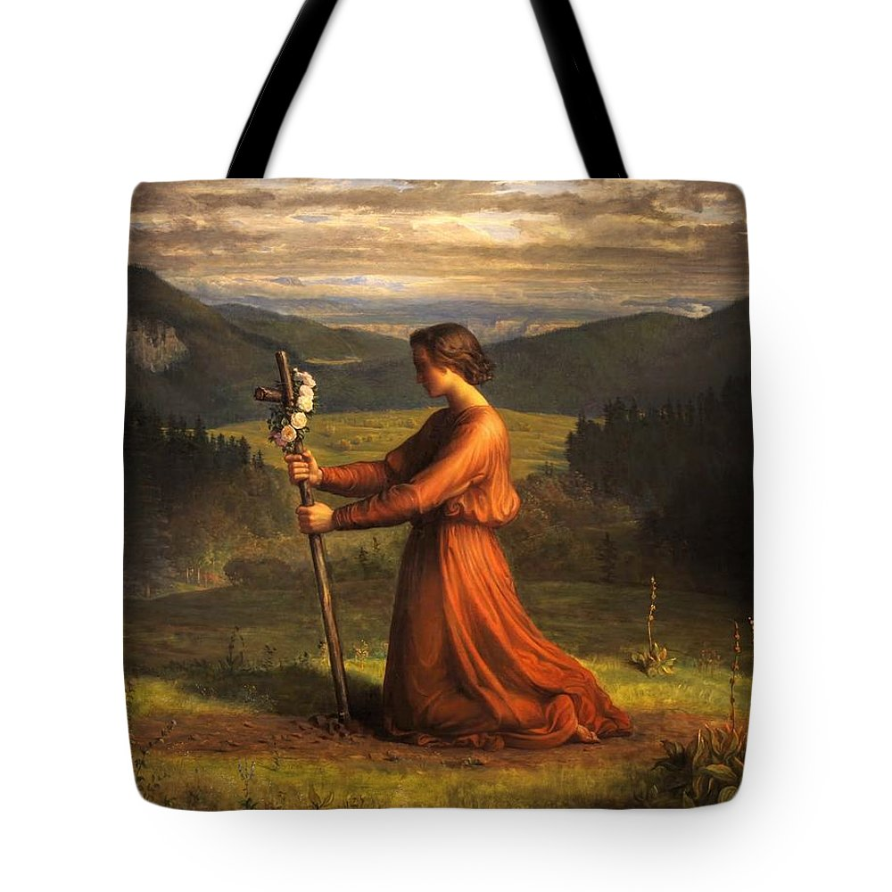 Louis Janmot - Poem Of The Soul 18 - Reality Tote Bag featuring the painting Poem Of The Soul by MotionAge Designs