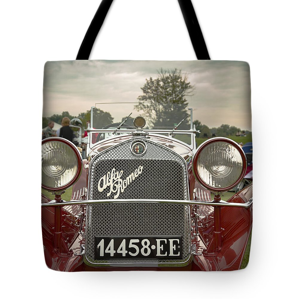 Antique Tote Bag featuring the photograph 1931 Alfa Romeo by Jack R Perry