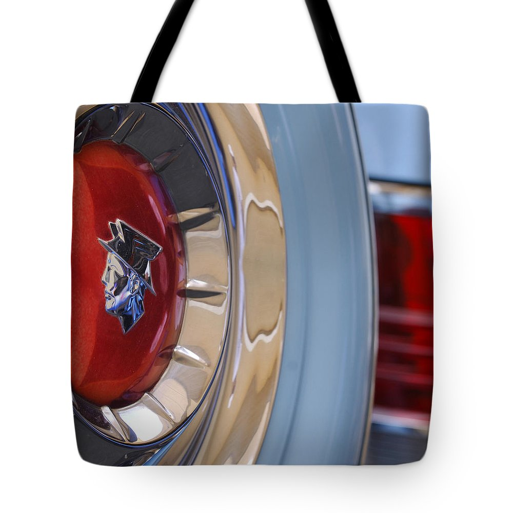 Car Tote Bag featuring the photograph 1954 Mercury Monterey Merco Matic Spare Tire by Jill Reger