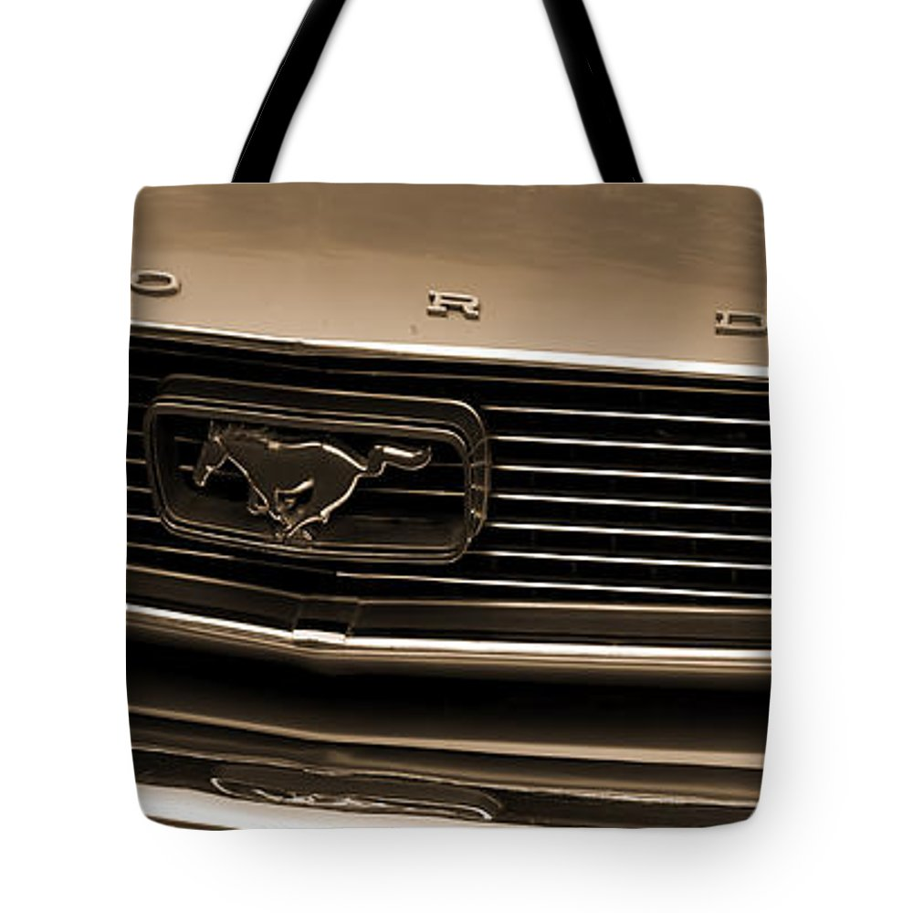 1966 Ford Mustang Tote Bag featuring the photograph 1966 Ford Mustang by Cathy Anderson