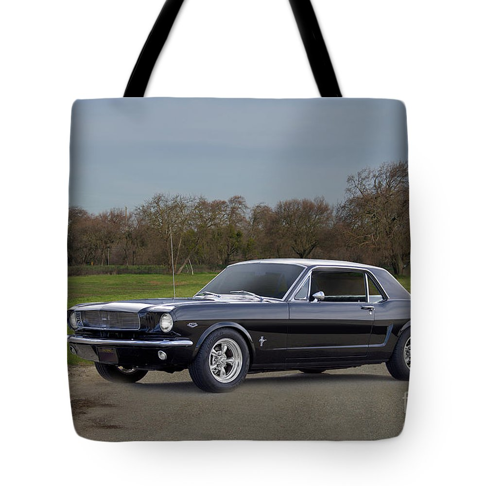 Automobile Tote Bag featuring the photograph 1966 Ford Mustang Coupe I by Dave Koontz