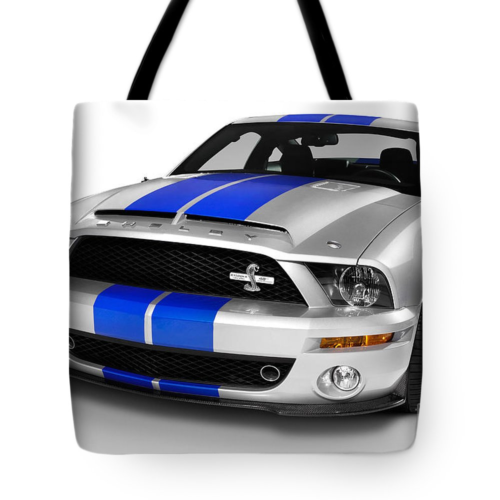 Ford Tote Bag featuring the photograph 2008 Shelby Ford Gt500kr by Oleksiy Maksymenko