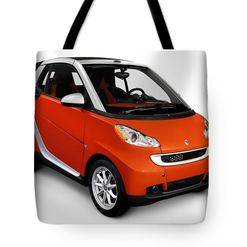 Smart Tote Bag featuring the photograph 2008 Smart Fortwo City Car by Oleksiy Maksymenko