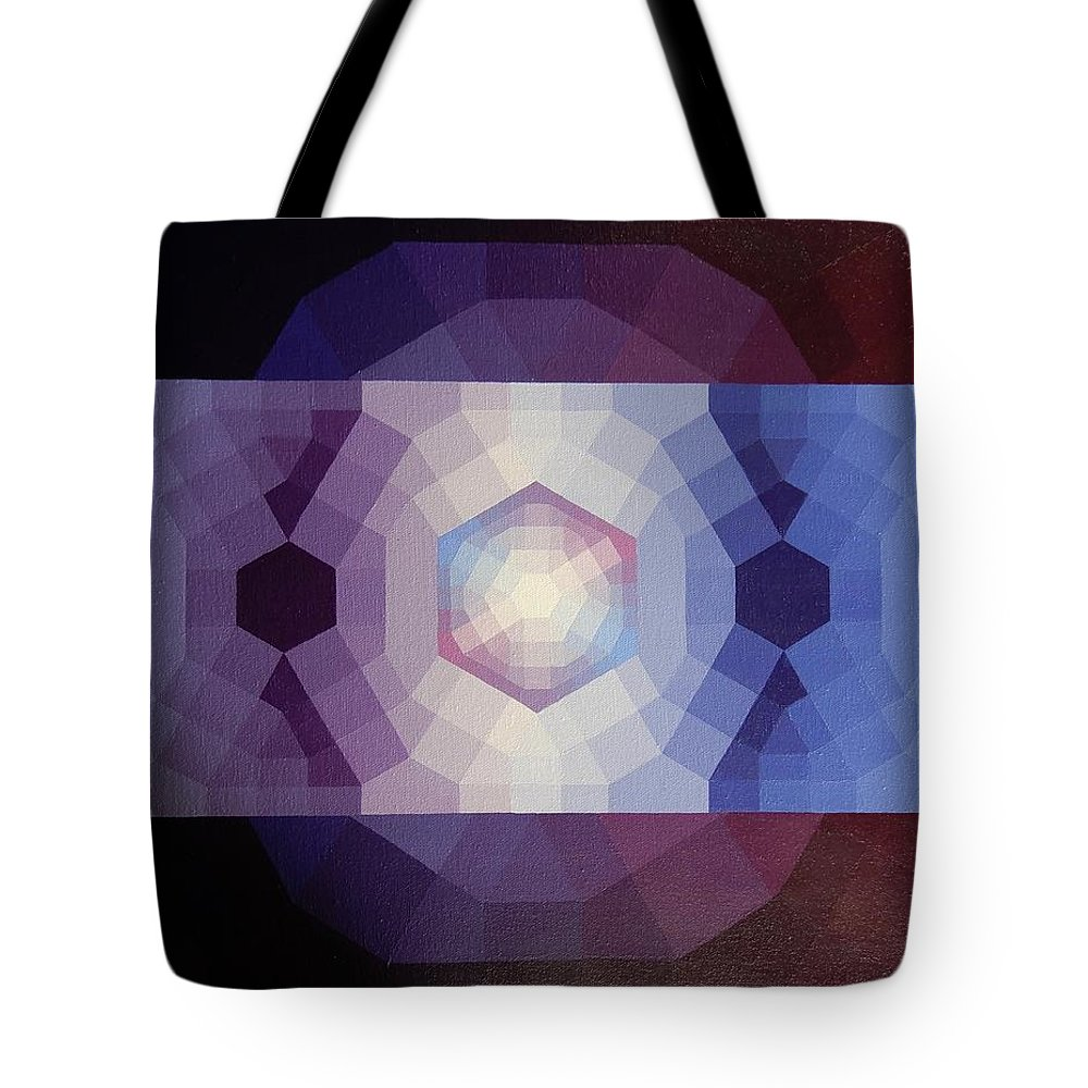 Prism Tote Bag featuring the painting #65 Violet Field by Loren Senge