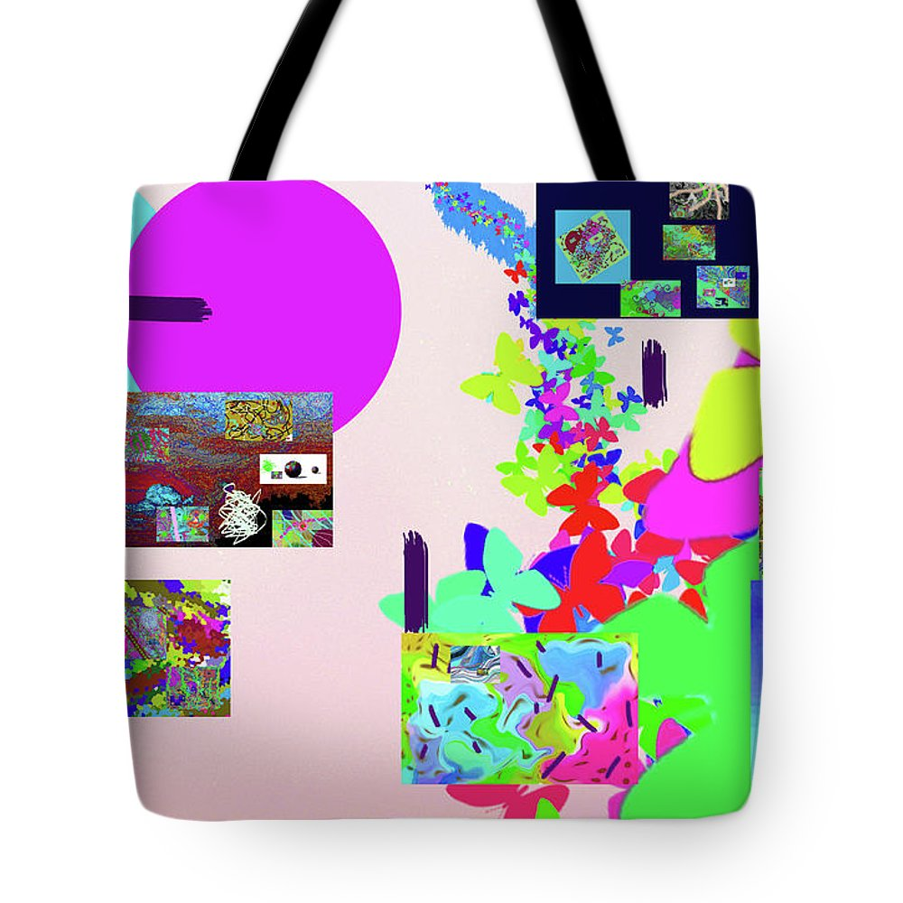 Walter Paul Bebirian Tote Bag featuring the digital art 8-3-2015fabcdefghijklmn by Walter Paul Bebirian