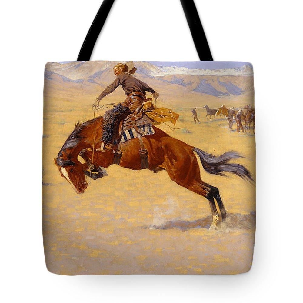 Frederic Remington Tote Bags